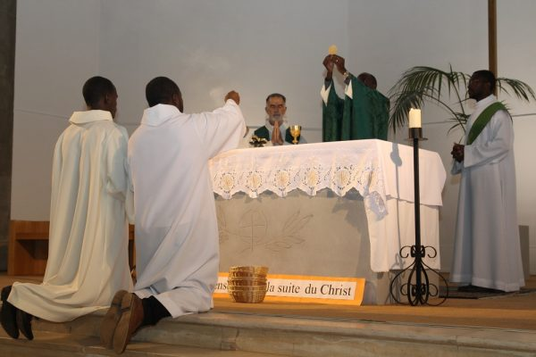 Messe à la maison de retraite de Mathurins.